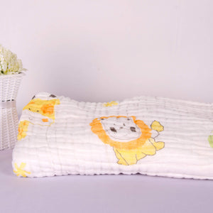 6 Layered Printed Cotton Gauze Baby Blanket/Towel - BabySpace Shop