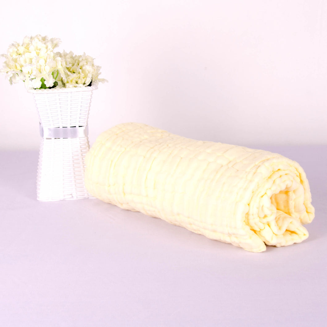 6 Layered Coloured Cotton Gauze Baby Towel/Blankets