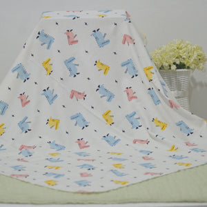 Printed Cotton Jersey Baby Blanket
