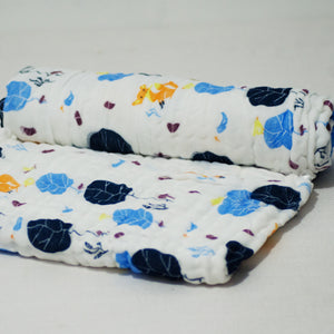 6 Layered Printed Cotton Gauze Baby Blanket/Towel - Collection III - BabySpace Shop