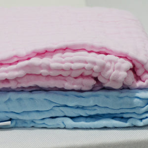 6-Layered Cotton Gauze Baby Towel/Blankets - Pink, Blue New - BabySpace Shop