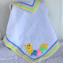 Load image into Gallery viewer, Handmade Crochet Baby Blanket White  - 90 x 80cm
