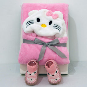 Animal Hooded Blanket and Sock Shoes - BabySpace Shop