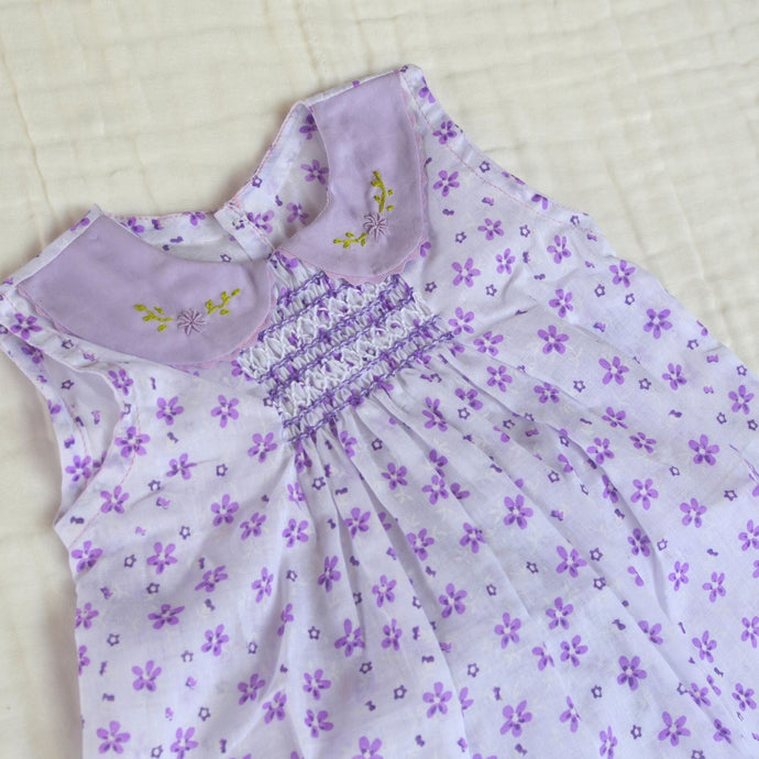 Handmade Smocked Dress Collection Collar - 12months