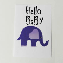 Load image into Gallery viewer, Hello Baby Handmade Card Collection - BabySpace Shop