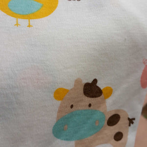 Printed Cotton Jersey Hooded Baby Blanket