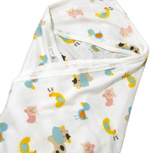 Load image into Gallery viewer, Printed Cotton Jersey Hooded Baby Blanket - BabySpace Shop