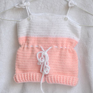 Knitted / Crochet Baby Romper - Newborn size