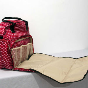 New - Multi-function Diaper / Baby Bag with Changing Mat Polka Dot Design - BabySpace Shop
