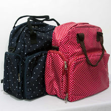 Load image into Gallery viewer, New - Multi-function Diaper / Baby Bag with Changing Mat Polka Dot Design - BabySpace Shop