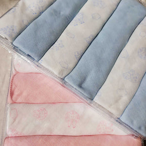 "Muslin Cloth Nappies 6 Pack Gift - 21"" x 21"""