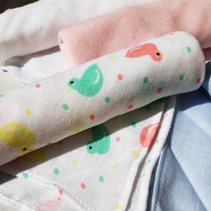 "Muslin Cloth Nappies 6 Pack Gift - 21"" x 21"" - BabySpace Shop"