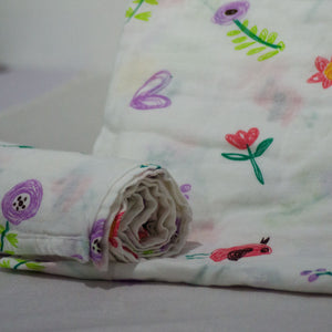 Muslin Swaddle Blankets - Plain 110 x 120 cm Collection - BabySpace Shop