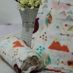 Muslin Swaddle Blankets - 70% Bamboo 110 x 120 cm Collection - BabySpace Shop