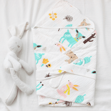 Load image into Gallery viewer, Muslin Hooded Baby Blanket