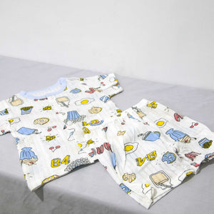 Cotton Printed Short Sleeve 2 Piece Suit - BabySpace Shop