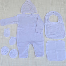 Load image into Gallery viewer, 6 Piece Suit Set II - New Born Size Take Home Outfit