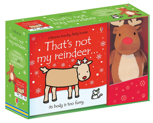 Thats Not My Raindeer Book and Toy Gift Set