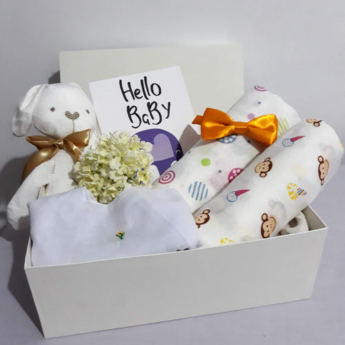 Welcome Baby Hamper - With Bow Tie