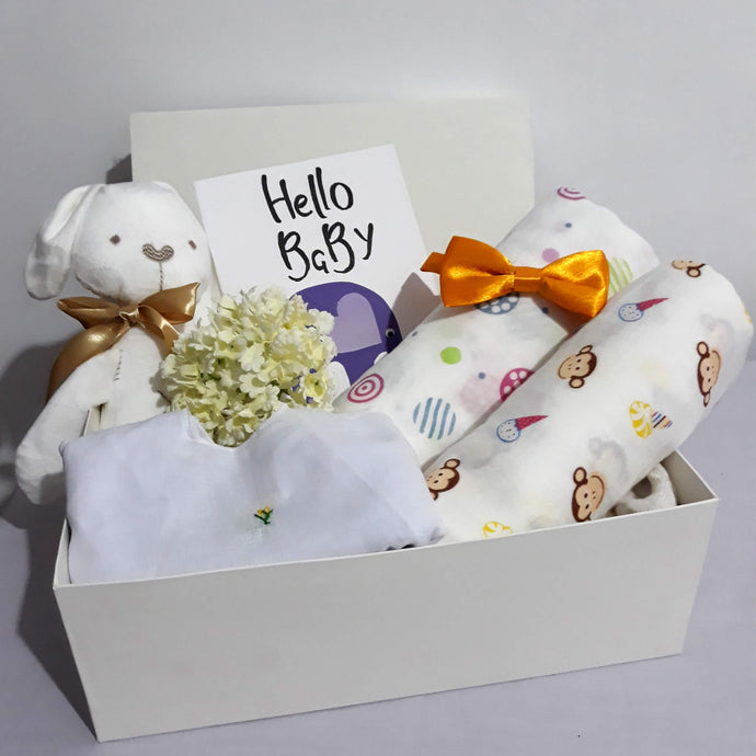 Welcome Baby Hamper - With Bow Tie - BabySpace Shop