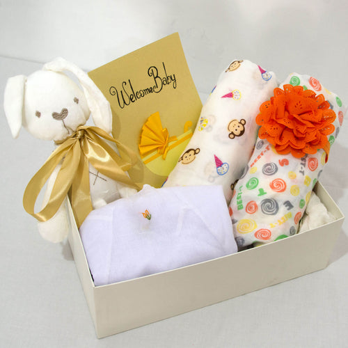 Welcome Baby Hamper - With Headband - BabySpace Shop