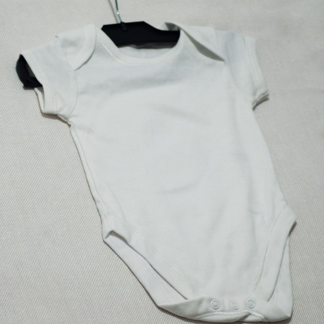 White Baby Romper / Jumpsuite - Plain