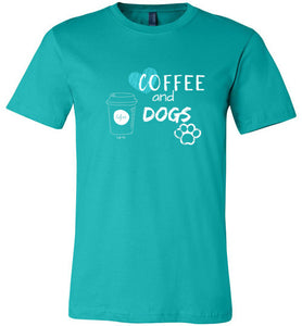 "Dog Lover T-shirt ""Coffee And Dogs"" From Lab and Friends At Lab HQ"