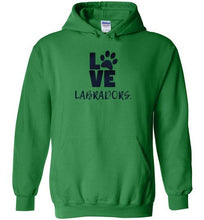 LOVE LABRADORS HOODIE - Labrador Retriever Sweatshirt From Lab HQ
