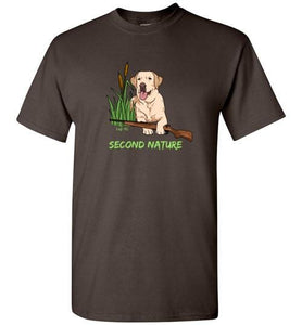 Second Nature - Yellow Lab Shirt - Duck Hunting From Lab HQ