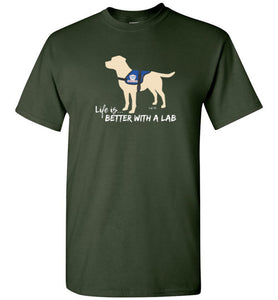 Yellow Lab T-shirt - Service Dog - Life Is Better With A Lab T-shirt From Lab HQ