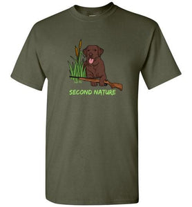 Second Nature - Chocolate Lab Shirt - Duck Hunting From Lab HQ