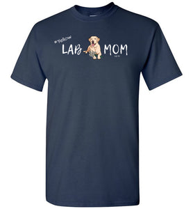 "Yellow Lab T-shirt - Yellow ""Lab MOM"" T-shirt From Lab HQ"
