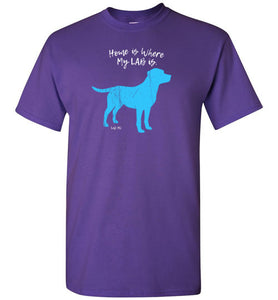 "Labrador T-shirt ""Home Is Where My Lab Is"" T-shirt by Lab HQ"