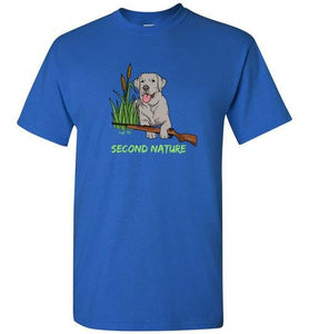 Second Nature - Silver Lab Shirt - Duck Hunting From Lab HQ