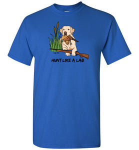Yellow Lab T-shirt - Hunt Like A Lab T-shirt From Lab HQ