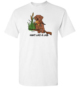 Red Fox Lab T-shirt - Hunt Like A Lab T-shirt From Lab HQ