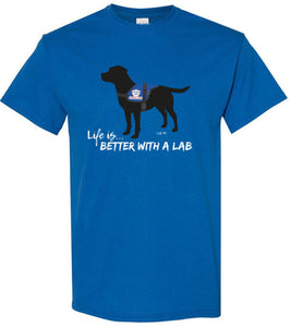 Black Lab T-shirt - Service Dog - Life Is Better With A Lab T-shirt From Lab HQ