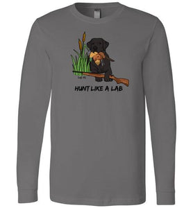 Black Lab T-shirt - Hunt Like A Lab T-shirt From Lab HQ