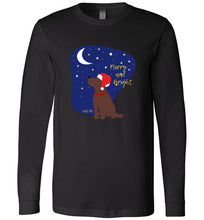 Chocolate Labrador T-shirt - Merry And Bright Christmas Lab Tee From Lab HQ