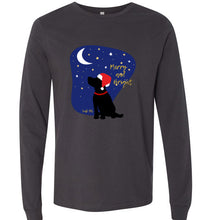 Black Labrador T-shirt - Merry And Bright Christmas Lab Tee From Lab HQ