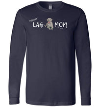 "Silver Lab T-shirt - Silver ""Lab MOM"" T-shirt From Lab HQ"