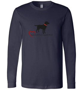 Labrador Retriever T-shirts - Love Is A Four Legged Word From Lab HQ