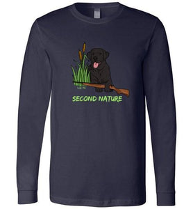 Second Nature - Black Lab Shirt - Duck Hunting From Lab HQ