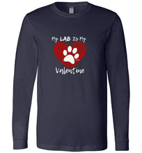 Labrador T-shirt - My Lab Is My Valentine From Lab HQ