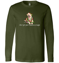 Yellow Labrador T-shirt - Don't Get Your Tinsel In A Tangle Lab Tee From Lab HQ