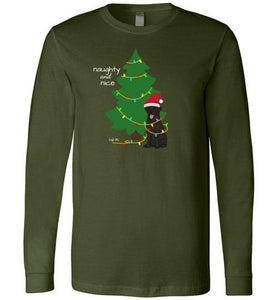 Black Lab T-shirt - Naughty And Nice Christmas Lab Tee From Lab HQ