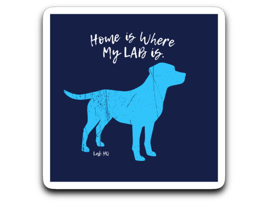 "Labrador Decal - ""Home Is Where My Lab Is"" Labrador Sticker From Lab HQ"