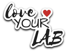Labrador Retriever Decals - Love Your LAB from Lab HQ