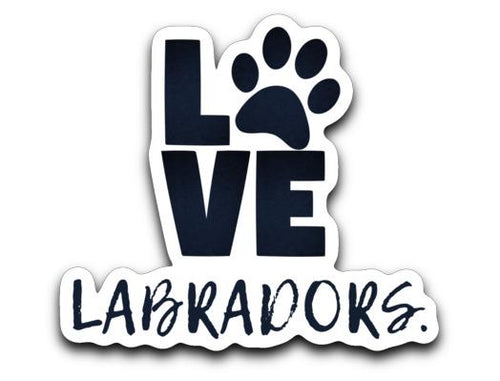 LOVE LABRADORS Stickers From Lab HQ