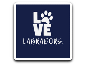 Labrador Decals LOVE Labradors Navy From Lab HQ